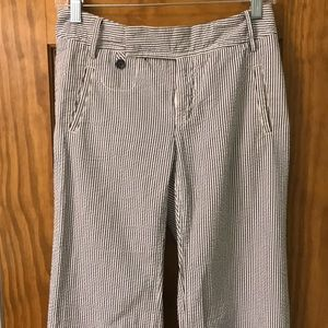 Banana Republic Seersucker Pants- Sz. 4- EUC!